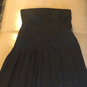 NWOT Jcrew drop waisted, strapless, pleated LBD